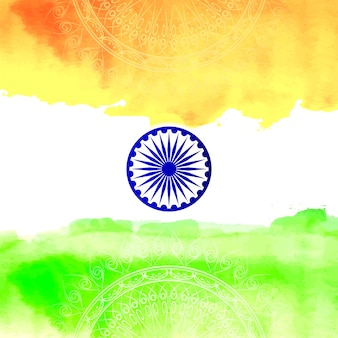Indian independence day flag design