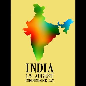 カラフルなインドの地図デザインの背景