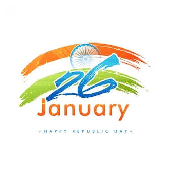 Indian republic day background with abstract style