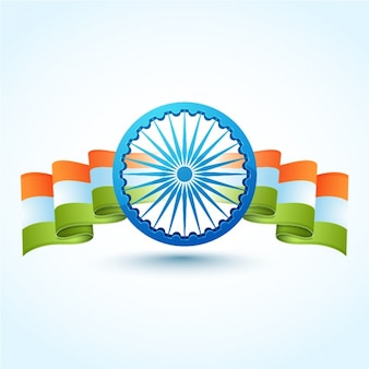 Indian republic day background with decorative flag