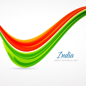 indian tricolor wave
