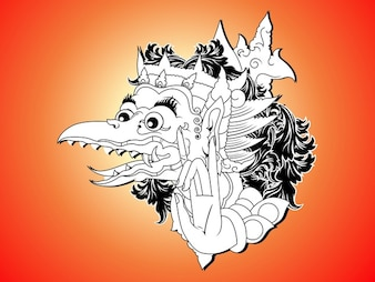 Indonesia Bali creature vector pack