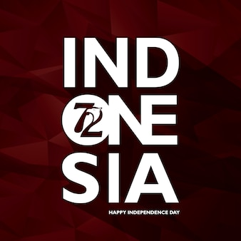 Indonesia independence day background design