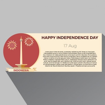 Indonesia independence day banner