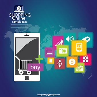 Infgraphic vector online shopping
