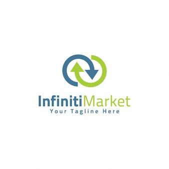 Infinity market logo template