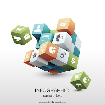 Infographic 3d geometric design