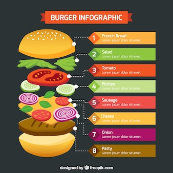 Infographic about the hamburger