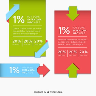 Infographic banners with decorative arrows