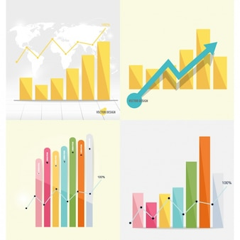 Infographic bar chart collection