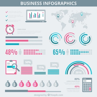 Infographic business on a gray background