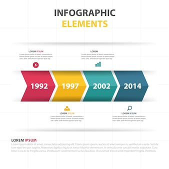 Infographic business progress template