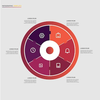 Infographic business template with circular elements