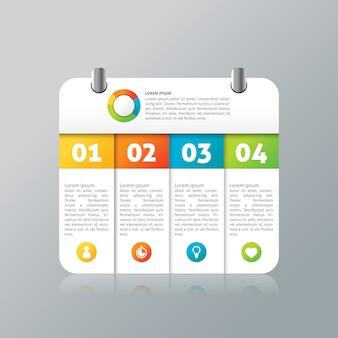 Infographic card design