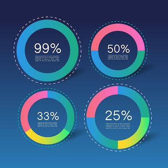 Infographic circles with percentages