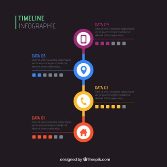 Infographic colorful timeline
