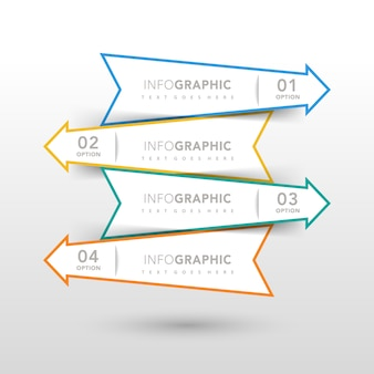 Infographic design with arrows