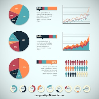 Infographic design with charts