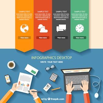 インフォグラフィックデスクトップ