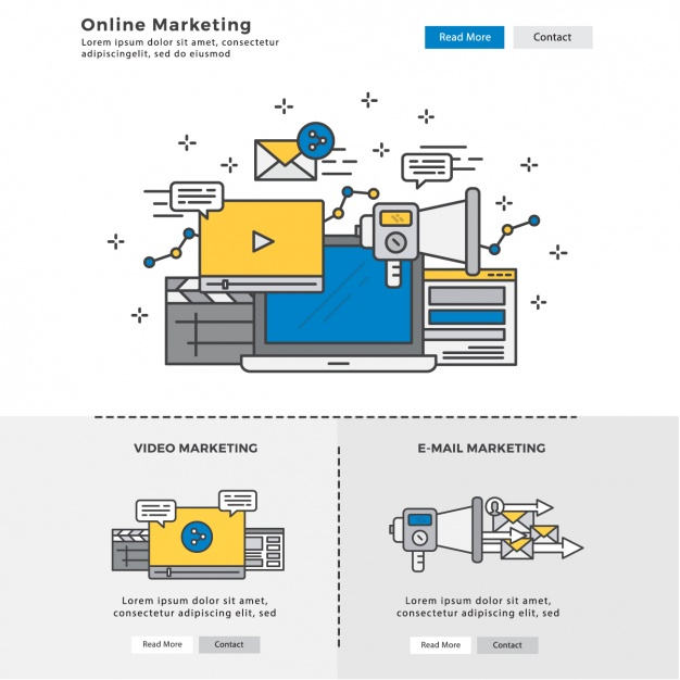 Infographic elements about digital marketing