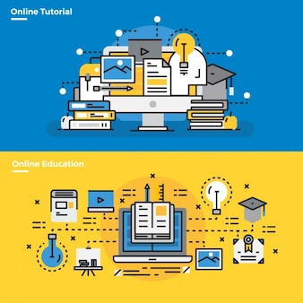 Infographic elements about online tutorials