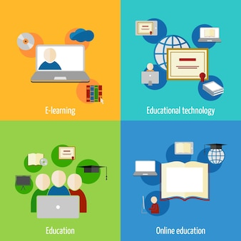 Infographic elements, education