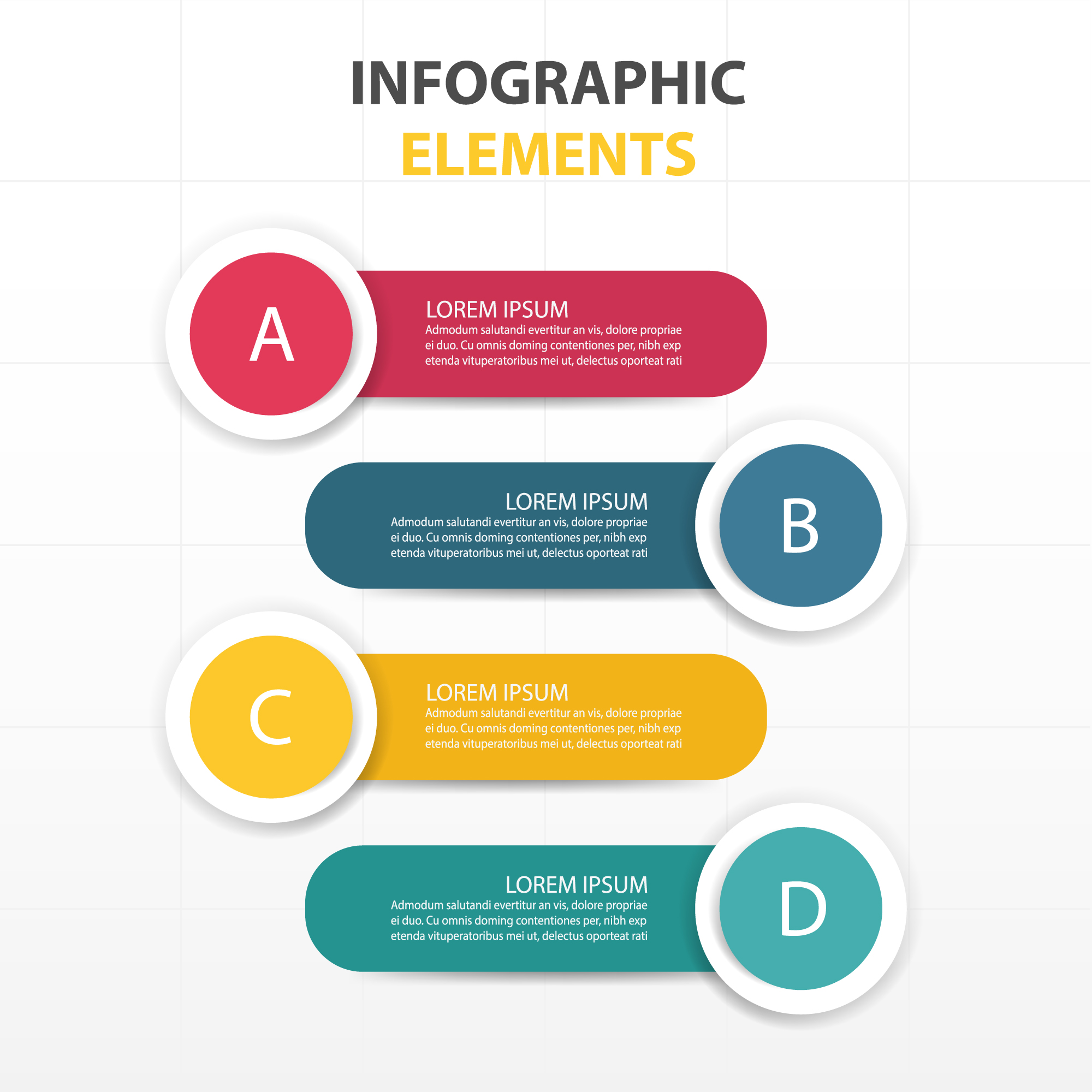 Infographic elements, round shapes
