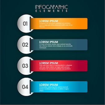 Infographic elements with four colors