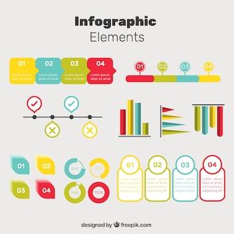 優れた色のインフォグラフィック要素