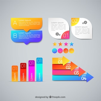 Infographic elements with modern style