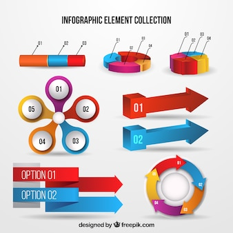 Infographic elements with realistic style