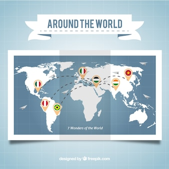 Infographic map of travel