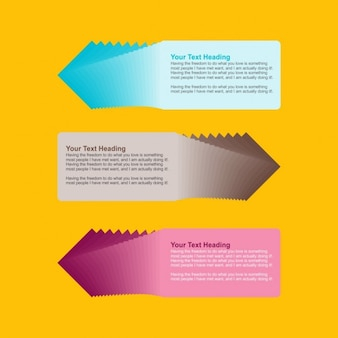 Infographic paper banners