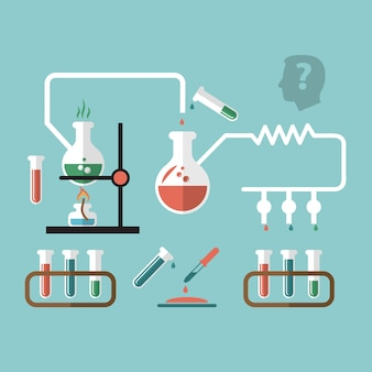 Infographic scheme about science