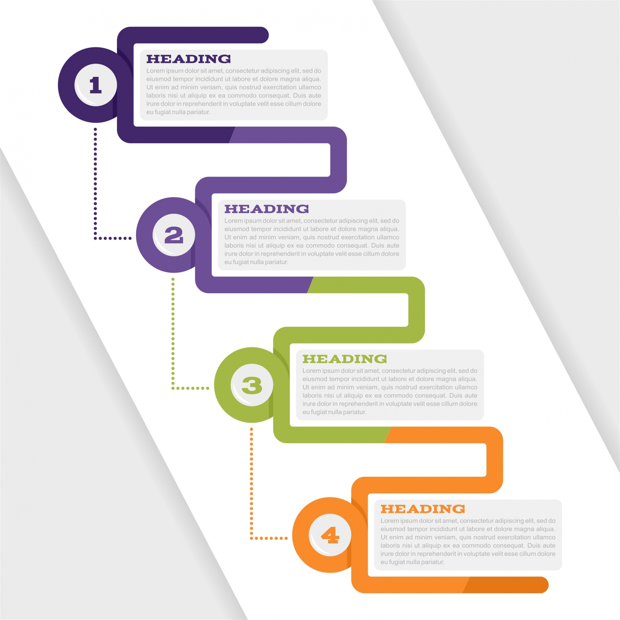 Infographic set for web design and presentations