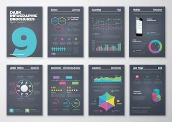 Infographic set with colorful business vector elements