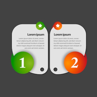 数字によるインフォグラフィックシンプルなデザイン