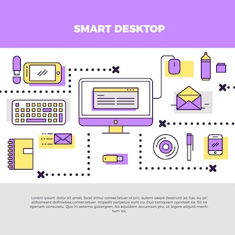 Infographic smart desktop illustration