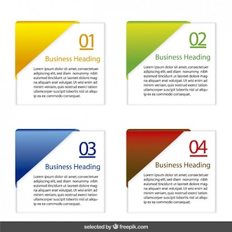 Infographic squares options