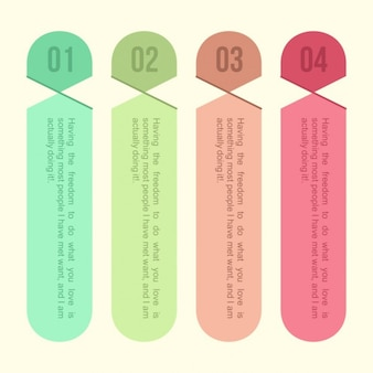 Infographic tags in colors