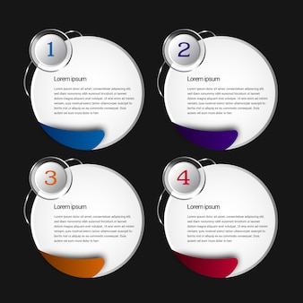 Infographic tempalte with rounded desgin
