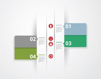 Infographic template green design