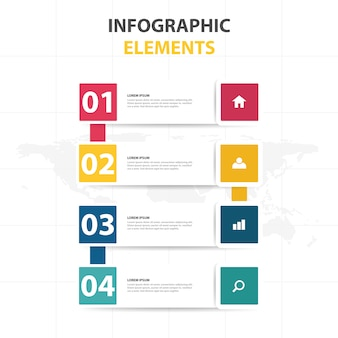 Infographic template in banner style
