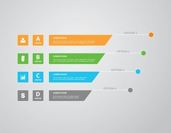Infographic template multicolor design