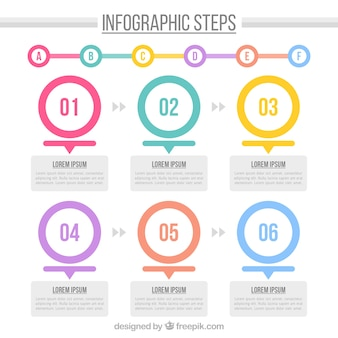 Infographic template with circles and cute style