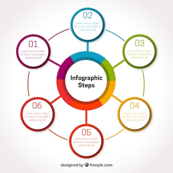 Infographic template with circles