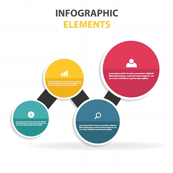 Infographic template with colorful circles