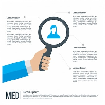 Infographic Template with Loupe