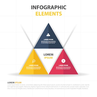 Infographic triangle template
