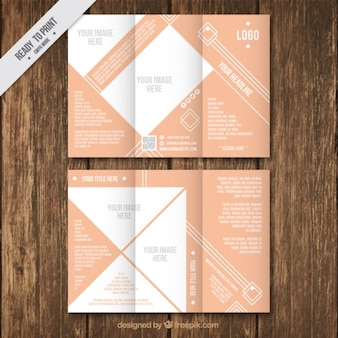 Infographic trifold brochure